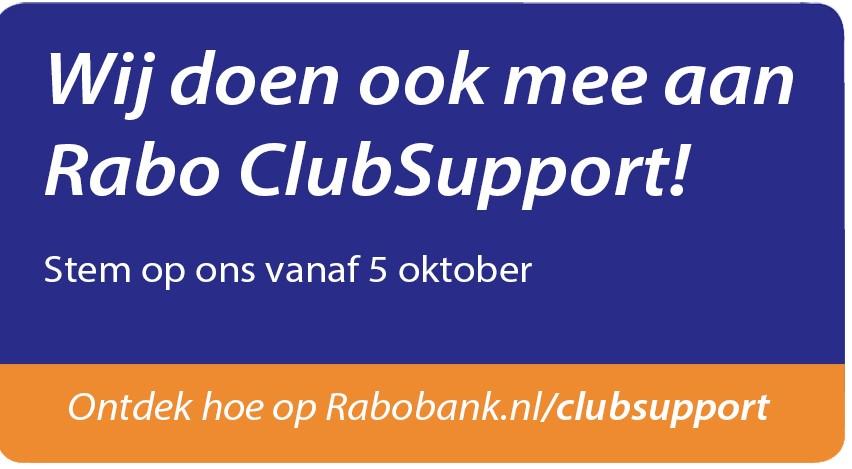 Wij doen ook mee aan de Rabo ClubSupport